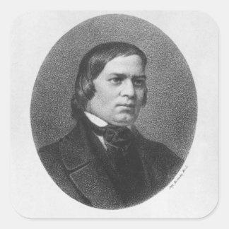 Robert Schumann, 1839 Fyrkantigt Klistermärke