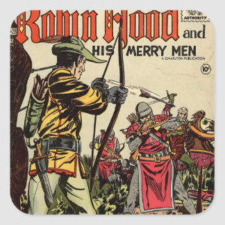 Robin Hood humorbok Fyrkantigt Klistermärke