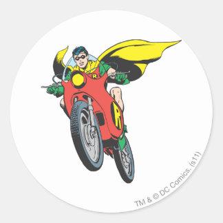 Robin ritter 2 runt klistermärke