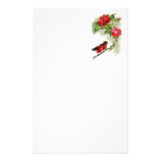 Robins för vintagereproduktionsvår brevpapper