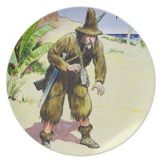 """Robinson Crusoe, från """"pip in i förflutnan"""", publi Tallrikar"""
