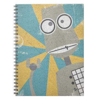 Robotanteckningsbok (i grått) anteckningsbok