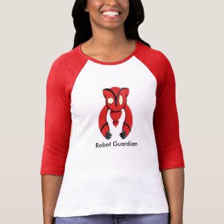 Robotförmyndare - flicka röda sleever för skjorta t-shirts