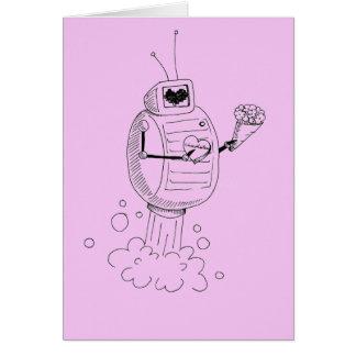 Robotvalentin kort för dag