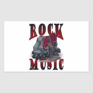 Rock Music Rektangulärt Klistermärke