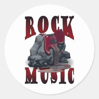 Rock Music Runt Klistermärke