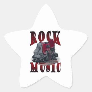 Rock Music Stjärnformat Klistermärke