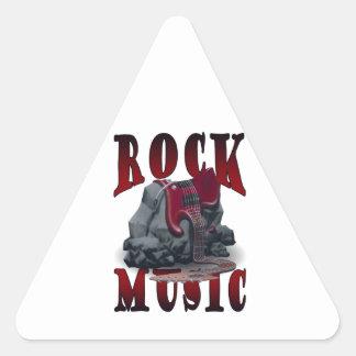Rock Music Triangelformat Klistermärke