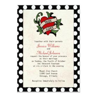 Rockabilly bröllop 12,7 x 17,8 cm inbjudningskort