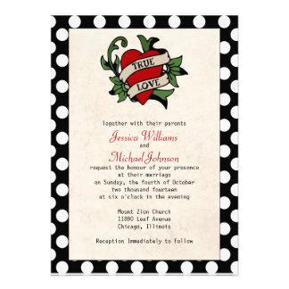 Rockabilly bröllop anpassningsbara inbjudningskort