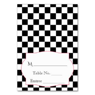 Rockabilly hjärtor och roställekort bordsnummer