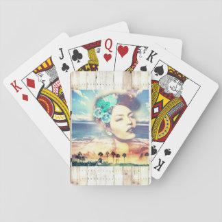 Rockabilly Kalifornien gömma i handflatan den Casinokort