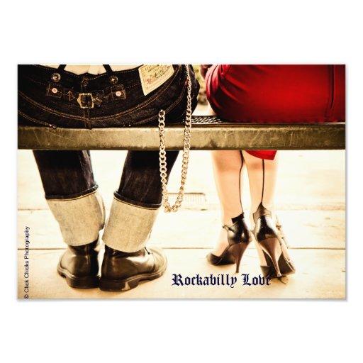 Rockabilly kärlekkonstfoto konstfoto