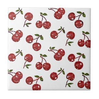 Rockabilly mycket körsbärsröda körsbär för RAB på  Kakelplatta