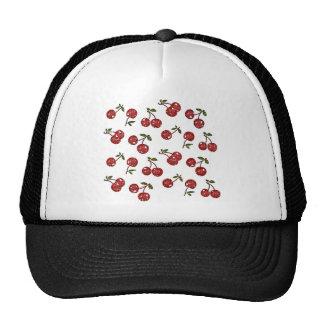 Rockabilly mycket körsbärsröda körsbär för RAB på  Keps
