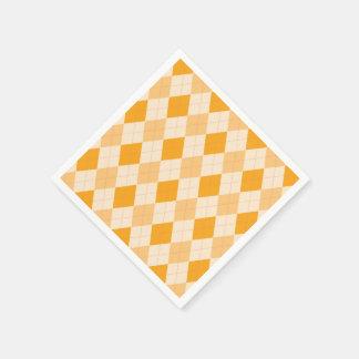Rockabilly pappra servetter för Retro gul argyle
