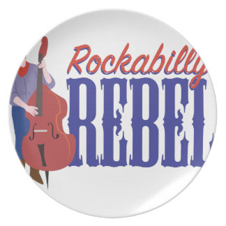 Rockabilly rebell tallrik