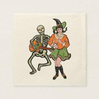 Rockabilly skelett- och häxaservetter för vintage papper servetter