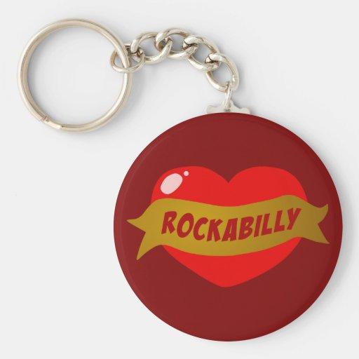 Rockabilly tatueringhjärta nyckel ringar