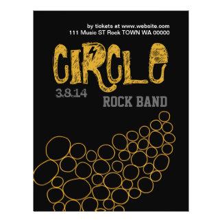 Rockbandet cirklar inbjudan för reklamblad 21,5 x 30 cm