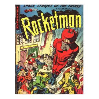 Rocketman vintagetecknader vykort