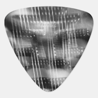 Rockin och Rollin abstrakt elektriskt gitarrfoto Plektrum