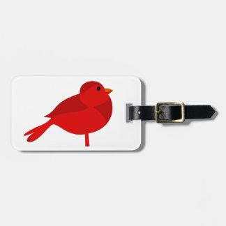 Rockin Robin röd huvudsaklig tecknad Bagagebricka