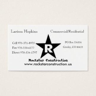 ROCKSTAR-logotyp, Rockstar konstruktion, Eric Visitkort