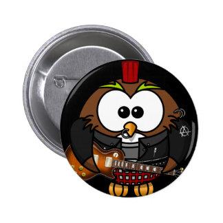 Rockstar uggla standard knapp rund 5.7 cm