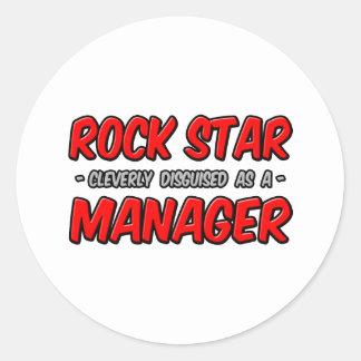 Rockstjärna… chef runt klistermärke