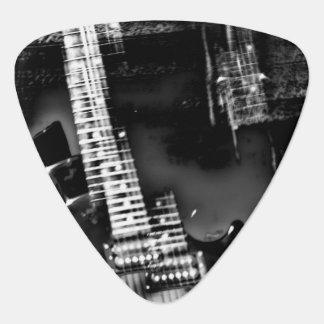 Rockstjärna som en abstrakt elektrisk gitarr plektrum