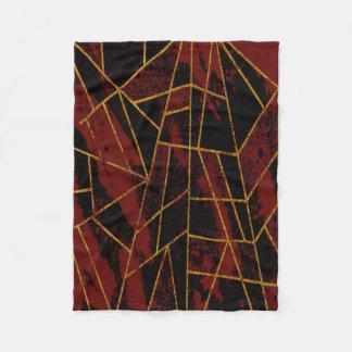 Röd abstrakt #940 fleecefilt