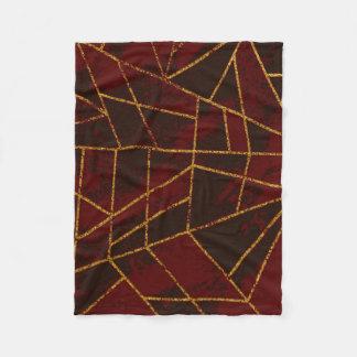 Röd abstrakt #943 fleecefilt