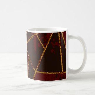 Röd abstrakt #943 kaffemugg