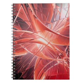 Röd abstrakt anteckningsbok