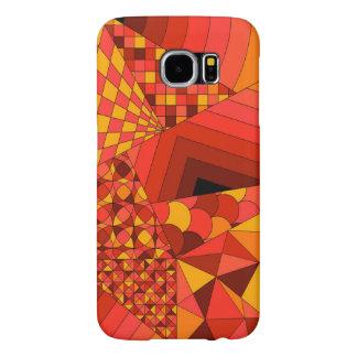 Röd abstrakt design 1 galaxy s5 fodral