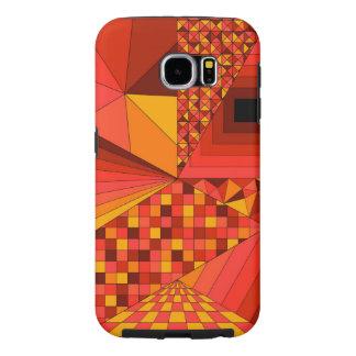 Röd abstrakt design 2 galaxy s5 fodral