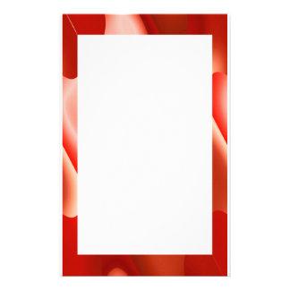 röd abstrakt gräns brevpapper