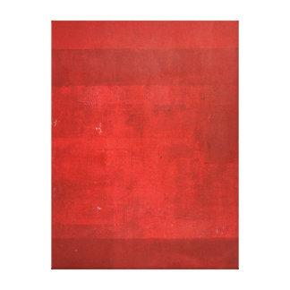 """Röd abstrakt konst """"för Boxcar"""" Canvastryck"""