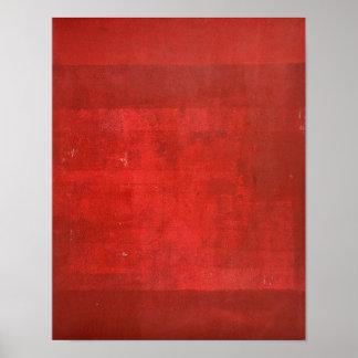 """Röd abstrakt konst """"för Boxcar"""" Poster"""
