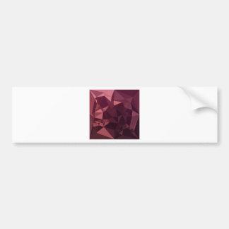 Röd abstrakt låg polygonbakgrund för mörkt hallon bildekal