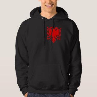 Röd albansk örn sweatshirt