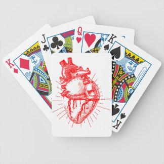 Röd Anatomical hjärta & vitsamling Spelkort
