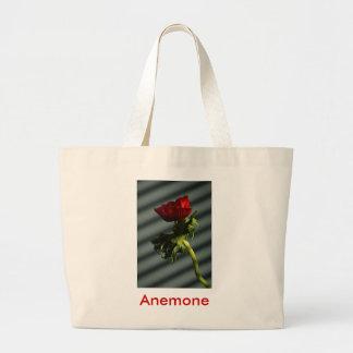 Röd anemon jumbo tygkasse