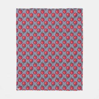 Röd Apple blåttpläd Fleecefilt