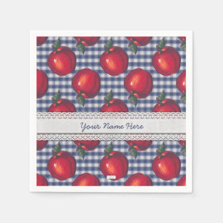 Röd Apple blåttpläd Pappersservett