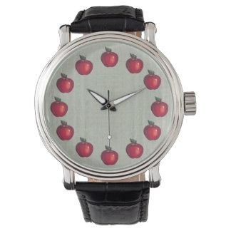 Röd äpplegrönt armbandsur