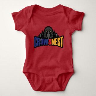 Röd babyBodysuit Tee Shirt