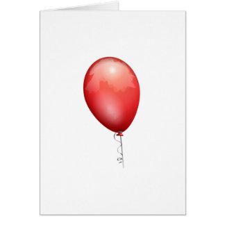 Röd ballong hälsningskort