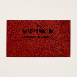 Röd bearbetad läderLookvisitkort Visitkort